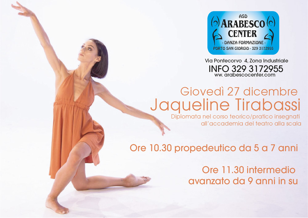 Stage jaqueline tirabassi arabesco center porto san giorgio
